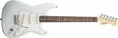 Fender Custom Shop Jeff Beck Signature Stratocaster Gülağacı Klavye Olympic White Elektro Gitar