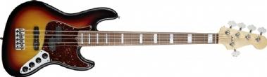 Fender Custom Shop Reggie Hamilton Signature Jazz Bass V Pao Ferro Fingerboard 3-Color Sunburst Bas Gitar