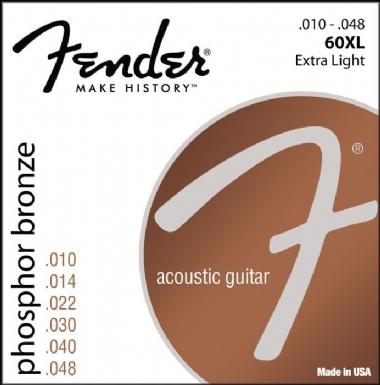 Fender Phosphor Bronze Acoustic Guitar Strings Ball End 60XL .010-.048 Gauges String Sets - Akustik Gitar Teli