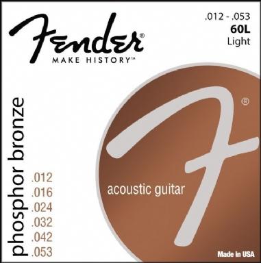 Fender Phosphor Bronze Acoustic Guitar Strings Ball End 60L .012-.053 Gauges String Sets - Akustik Gitar Teli