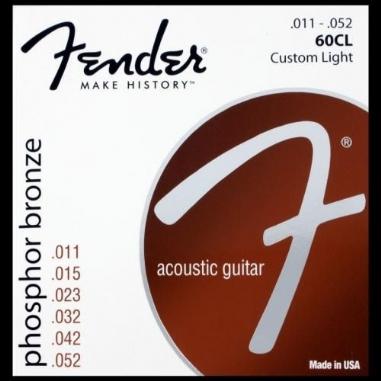 Fender Phosphor Bronze Acoustic Guitar Strings Ball End 60CL .011-.050 Gauges String Sets - Akustik Gitar Teli
