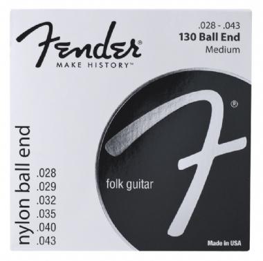 Fender Klasik 130 Clear/Silver 28-43