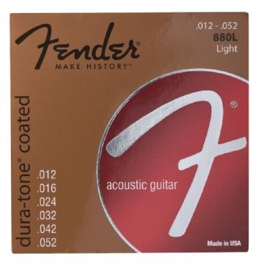 Fender Dura-Tone Coated 80/20 Acoustic Guitar Strings Ball End 880L Gauges .012-.052 String Sets - Akustik Gitar Teli