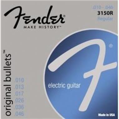 Fender Original Bullets Guitar Strings Pure Nickel Bullet End 3150R Gauges .010-.046 String Sets - Elektro Gitar Teli