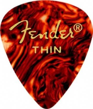 Fender 351 Shape Picks Thin 12 Pack Shell Picks Pena