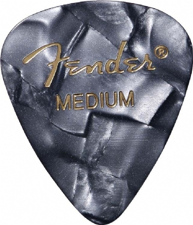 Fender 351 Shape Premium Picks Medium 12 Pack Black Moto Picks Pena