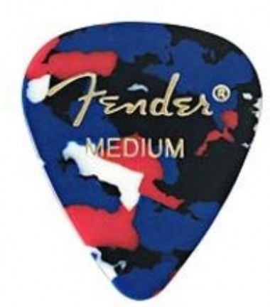 Fender 351 Shape Picks Medium 12 Pack Confetti Picks Pena