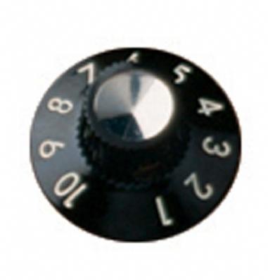 Fender Amplifier Knobs Standard Blackface 1-10 Numbered Black Set of 6 Amplifier Hardware