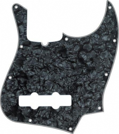 Fender Pickguard Jazz Bass 10 Hole 4-Ply BLK Pearl