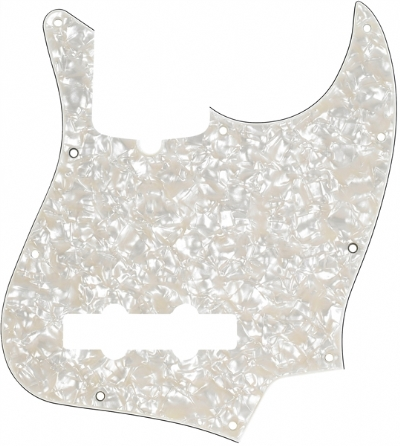 Fender Pickguard Jazz Bass 10 Hole 4-Ply Aged WMT