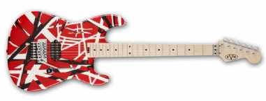 EVH Stripe Series Red with Black Stripes