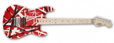 EVH Stripe Series Red with Black Stripes
