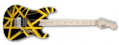 EVH Stripe Series Black with Yellow Stripes