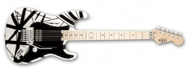 EVH Stripe Series White with Black Stripes