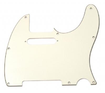 Fender Pickguard Tele 8 Hole 3-Ply Parchment Yedek Parça