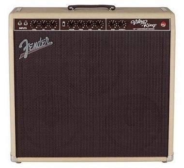 Fender Vibro-King 20th Anniversary Edition Blonde Elektro Gitar Amfisi