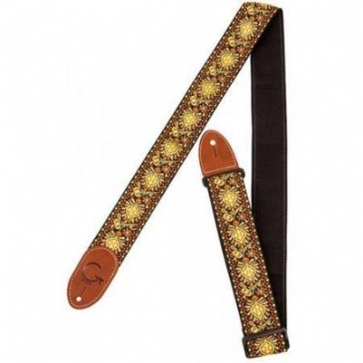Gretsch Guitar Strap Yellow/Orange Brown End