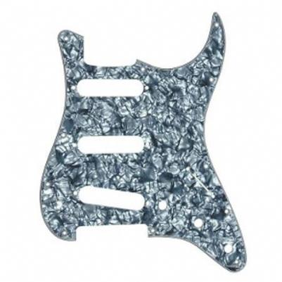 Fender Pickguard Strat 11 Hole S S S Configuration 4-Ply Black Pearl Yedek Parça