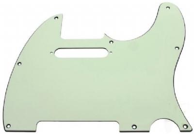 Fender Pickguard Tele 8 Hole 3-Ply Mint Green Yedek Parça