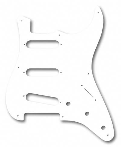 Fender Pickguard \'50s Strat 8 Hole S S S Configuration 1-Ply White Yedek Parça